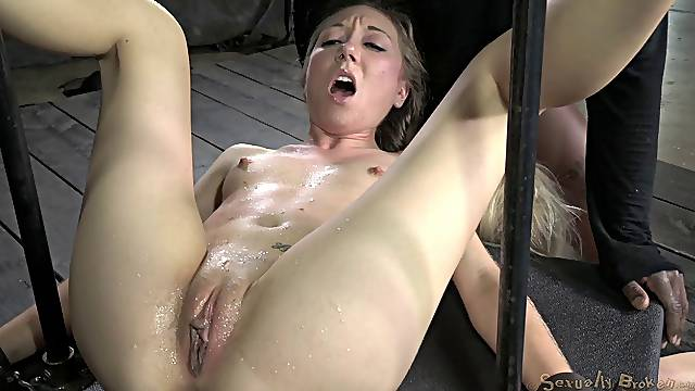 Small tits cowgirls getting ravished hardcore in BDSM torture