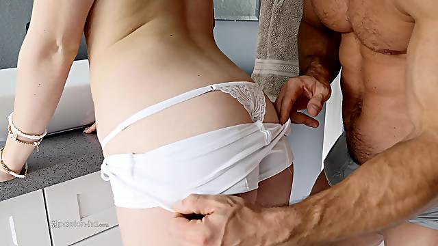 Good looking Anny Aurora makes a dick disappear in her wet cunt