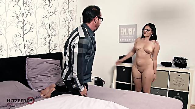 Chubby German slut fucks her uncle
