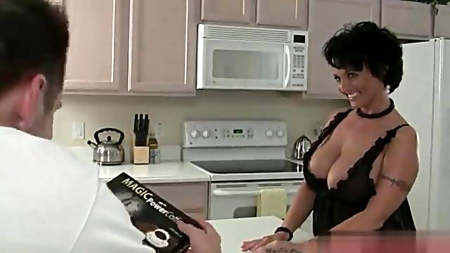 Short hair romantic danish chick giving a nice jerk off and blow job