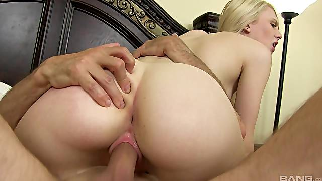 Lovely Lily Rader gets her hairy cunt plowed by a naughty neighbor