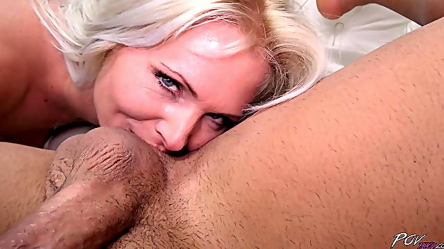 Blonde babe Kathy Anderson wants to get fucked by a friend in POV