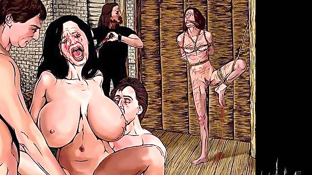 Sex slave cartoon comic book