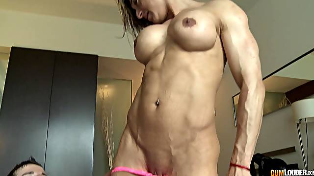 Sporty mature blonde MILF gets a mouth full of sticky warm cum