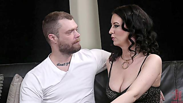 Dominant MILF Cherry Torn pegs her male slave with a strap on