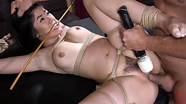 Kendra Spade ass fucked hardcore with her hands tied up