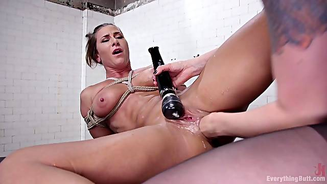 Bondage and spanking is a new experience for Ariel X and Lorelei Lee