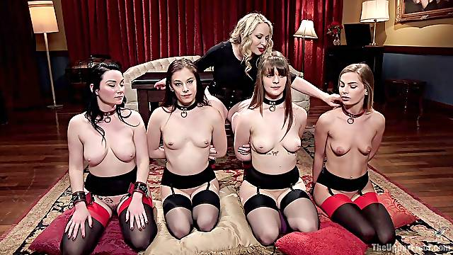 Bondage and spanking is a new experience for horny Veruca James