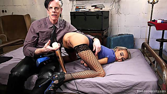 Kinky girlfriend Janice Griffith loves to be tortured by her master