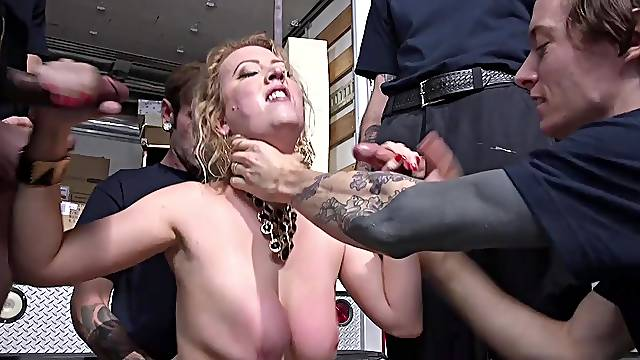 Slutty wife Cherry Torn desires to be roughly fucked by a lot of men