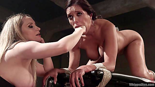 Wild and horny Francesca Le adores BDSM and all sexy lesbian games