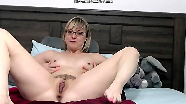 The hottest mother with short hair and glasses like real teacher and wife