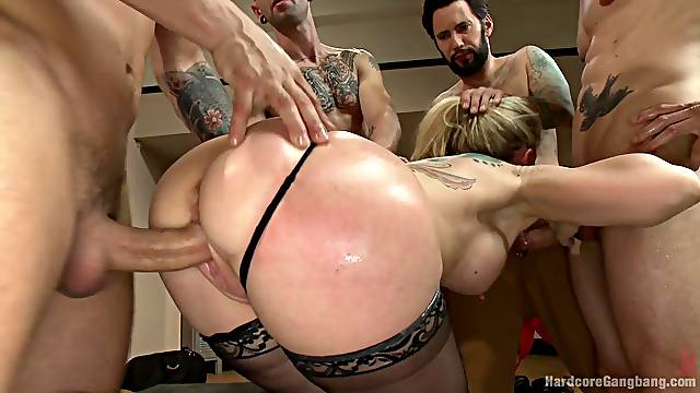 Nasty Simone Sonay needs more than one horny dude for the orgasm