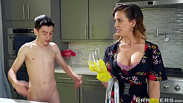 Cherie Deville gets fucked by hard friend's penis while she screams