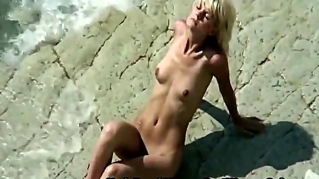 Amazing Amateur Blonde On Naturist Beach Take Photos