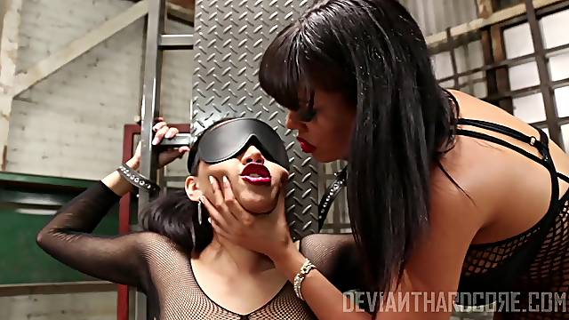 Luna Star and Vicki Chase enjoy lesbian sex and bdsm experience