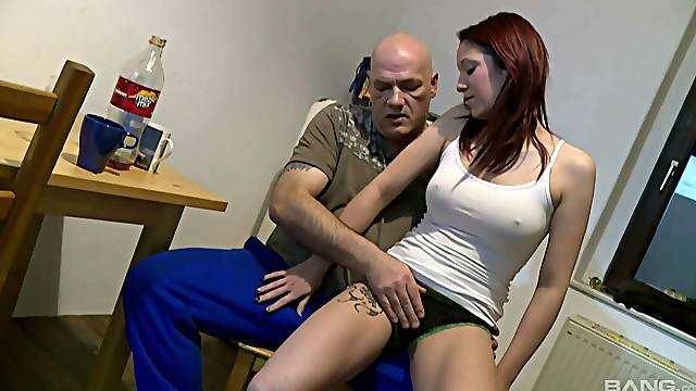 pretty Natalie Hot enjoys rough sex in the kitchen with his lover