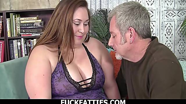 Delicious BBW With Massive Tits Takes On A Big