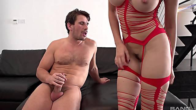 Kagney Linn Karter gets fucked by hard friend's penis while she moans