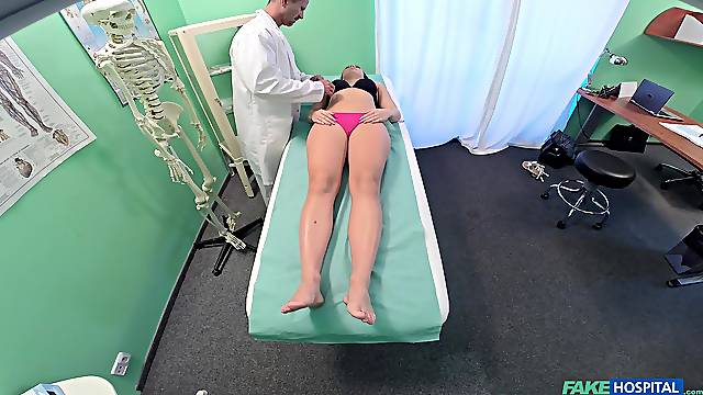 Morgan Rodriguez comes for a basic health exam and gets fucked