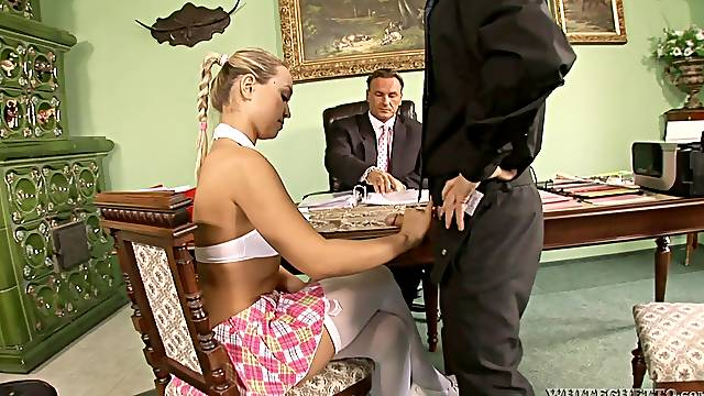 Dirty husband loves to watch his wife Mia Leone getting fucked