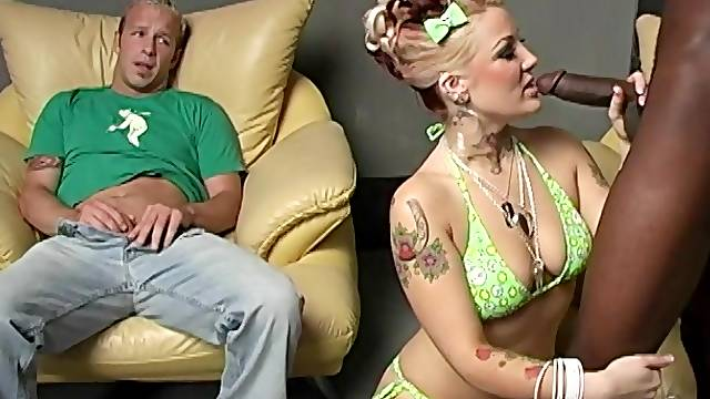 Candy Monroe's husband watches her getting fucked by a BBC