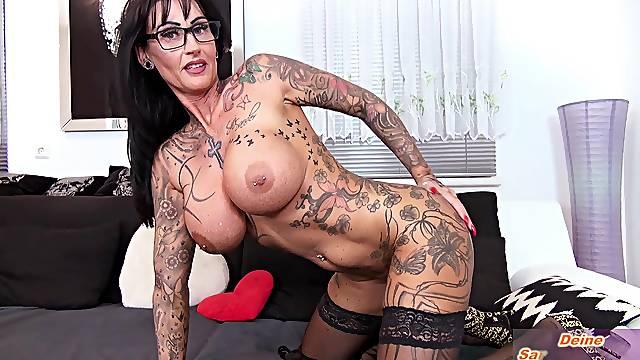 german big tits femdom milf seduced slave