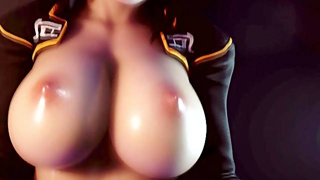 Sexy 3D big ass and 3D big tits Miranda Lawson gets missionary pussy pounding