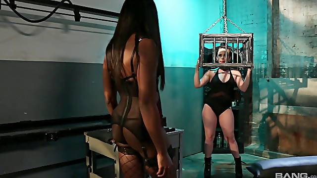 BDSM torture with foot fetish - Katie St. Ives and Ana Foxxx