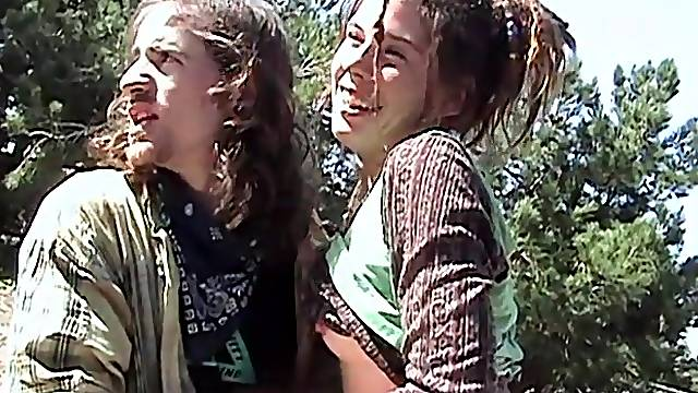 Outdoor fucking in the woods with a small tits amateur girlfriend