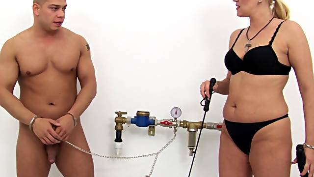 Kinky BDSM fucking with submissive husband and mature Chloe