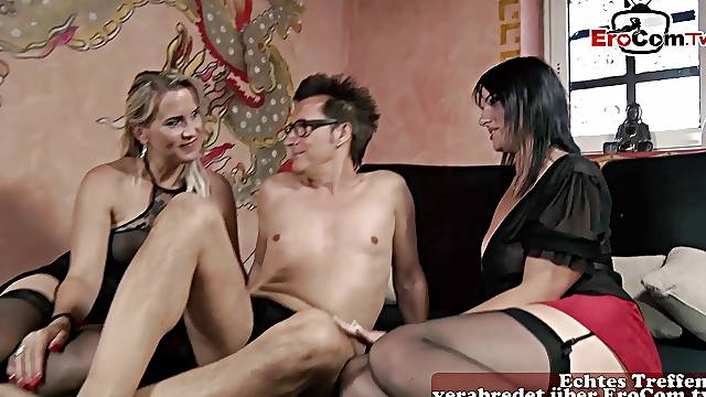 German amateur anal threesome with milfs