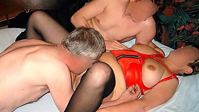 Hot bareback fucked and creampied by some guys