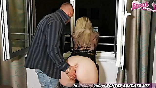 German amateur mother seduces from son