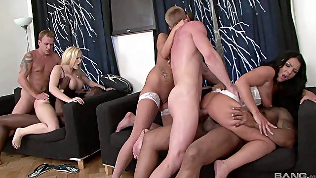Horny mature wife Angel Wicky loves organizing sex games. HD