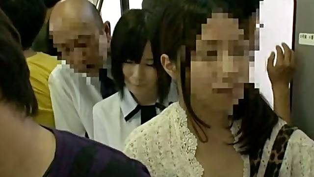 Kinky Action and Upskirt Shots in Japanese Public Bus