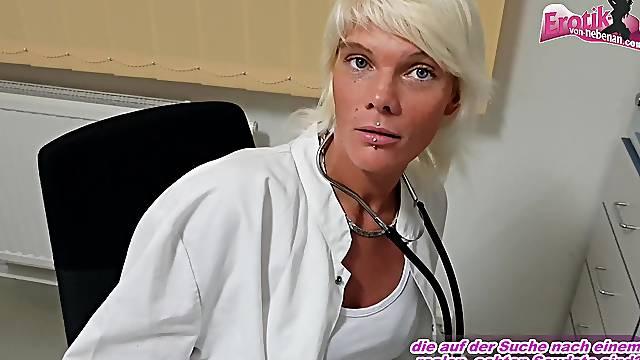 Skinny german nurse seduced pov creampie