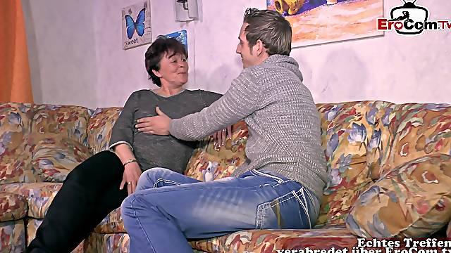 German old grandma at porn casting