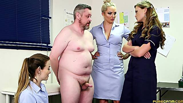 Lad gets mocked by Honour May and her babes for his penis size