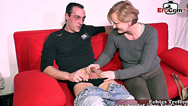 German old granny housewife seduced guy