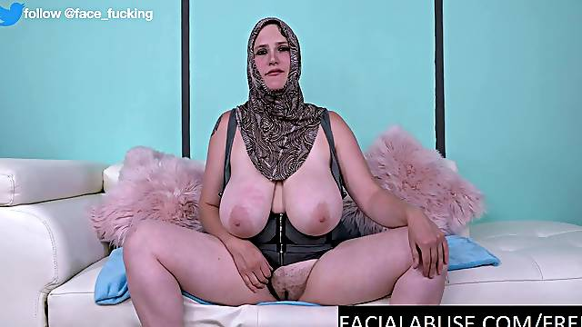 Busty Whore Face Fucked and Slapped