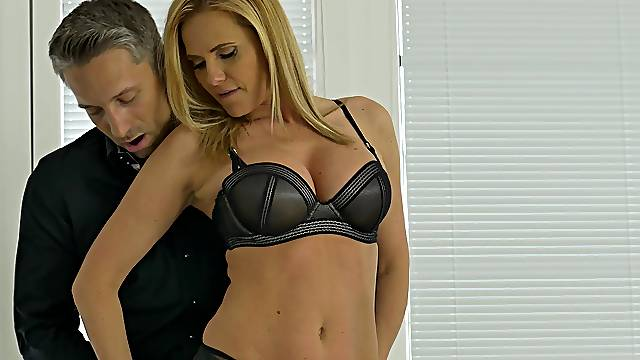 Gentle fucking in the morning with fake tits blonde Lili Peterson