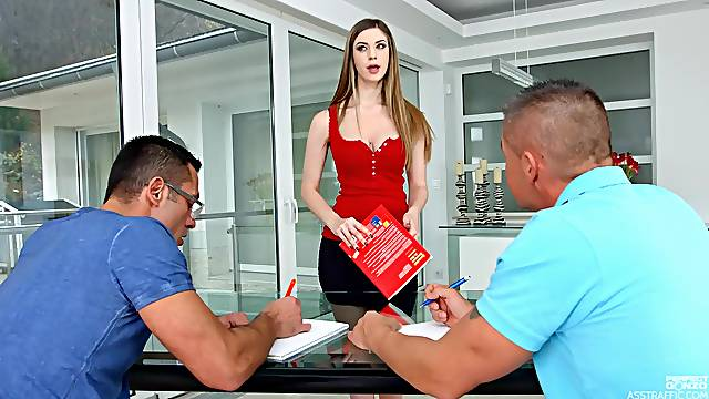 Amazing MMS threesome with double penetration for Stella Cox