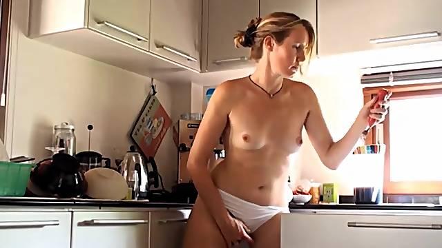 Delicious Hairy Girlfriend Masturbates At Home