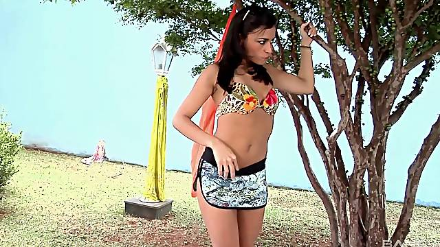 Beautiful Kamilla Werneck bounces on a big donger and adores it