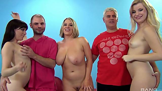 One lucky guy gets to fuck Samantha Bentley and her horny friends