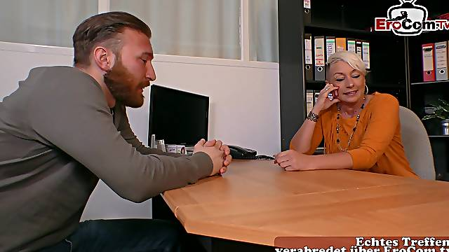 German MILF secretary fuck