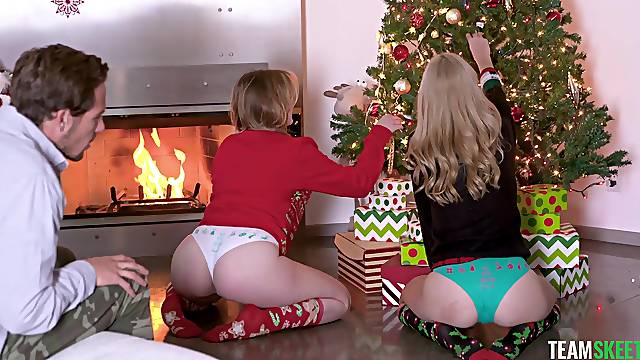 Compilation of best Christmas fuck scenes with stunning babes