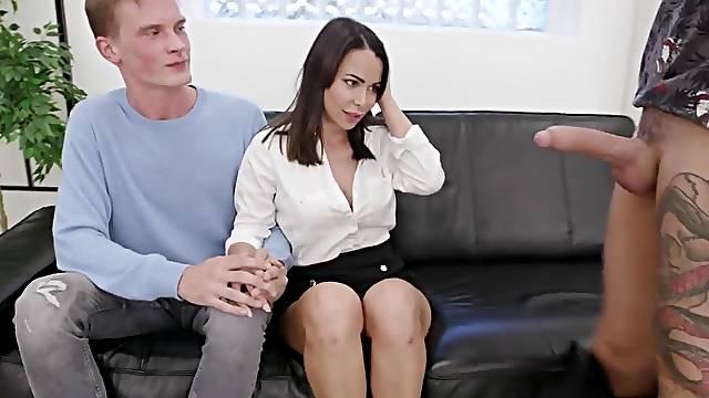 Wife Jessy Jey Eats Cum Then Kisses Cuck