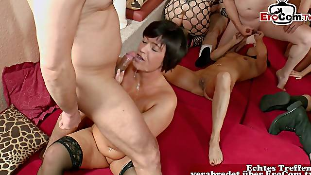 German swinger orgy with real couples